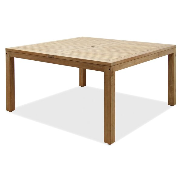 Bridgepointe Square Wood Dining Table by Rosecliff Heights