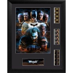 Batman The Dark Knight Trilogy Triple FilmCell Presentation Framed Vintage Advertisement by Trend Setters