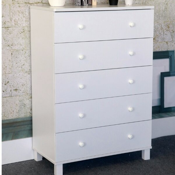 Beckner Capacious Gleaming 5 Drawer Chest by Harriet Bee