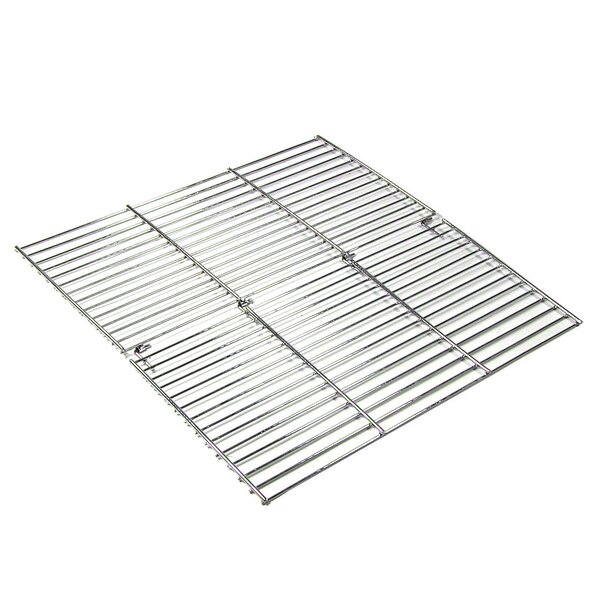 36 Square Folding Chrome Cooking Grate by Wildon H