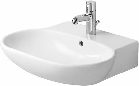 Foster Ceramic 28 Wall Mount Bathroom Sink with Overflow by Duravit
