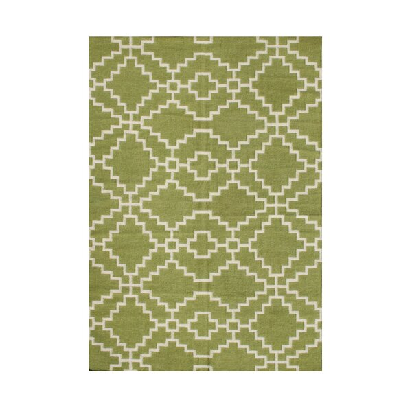 Wilsonville Hand-Tufted Lime Green Area Rug by The Conestoga Trading Co.