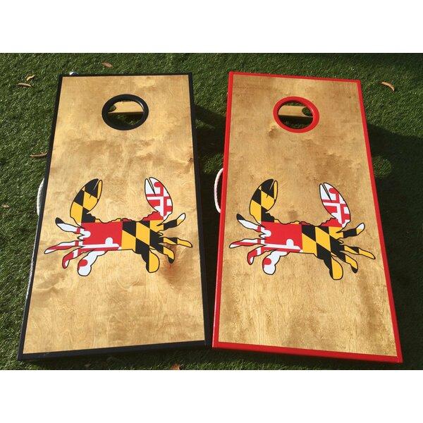 Maryland Crab 10 Piece Cornhole Set by West Georgia Cornhole
