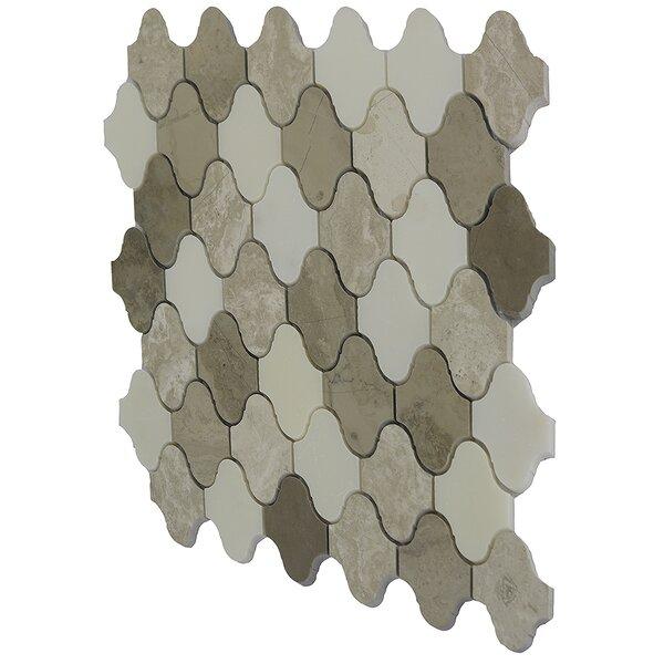 Namib Desert 2 x 2 Marble Mosaic Tile in Cream/Beige/White by Byzantin Mosaic
