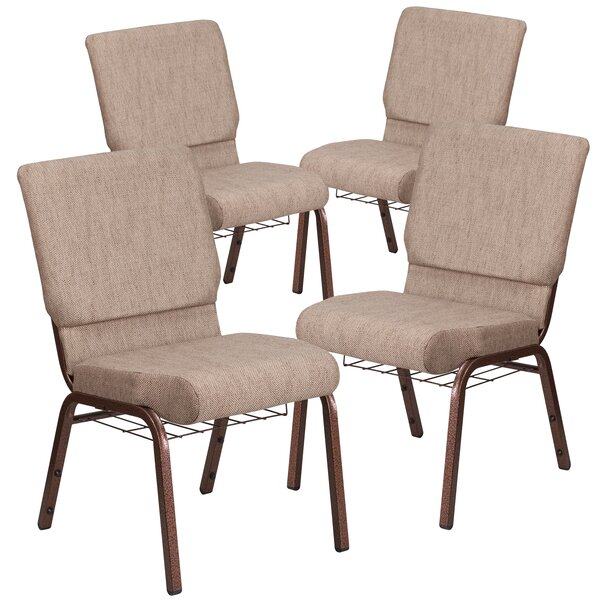 MacArthur Guest chair with Fabric Seat (Set of 4) by Ebern Designs