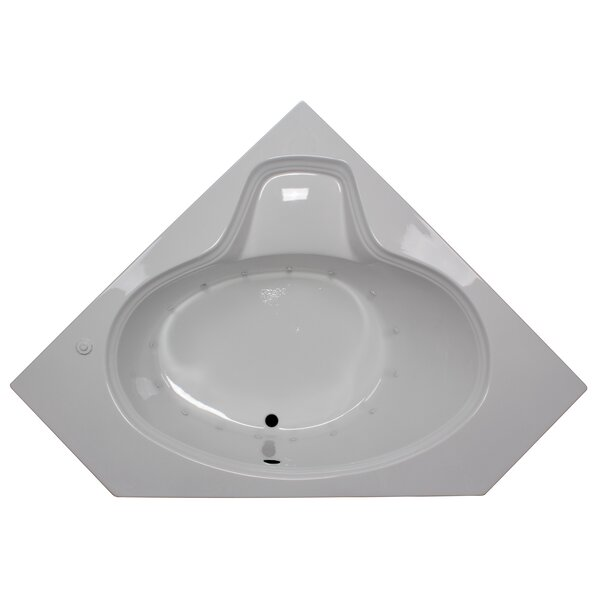 60 x 60 Corner Oval Air Tub by American Acrylic