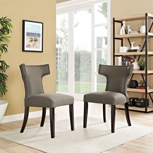 Find Niles Curve Upholstered Dining Chair By Wrought Studio Spacial Price