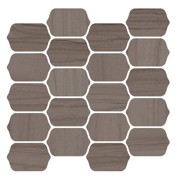 Burano 12 x 13 Ceramic Mosaic Tile in Noce Trento by Interceramic