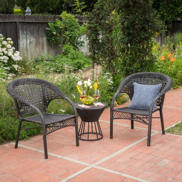 Diana 3 Piece Rattan Seating Group by Ophelia & Co.