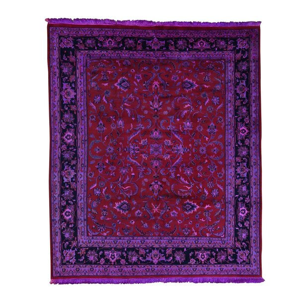 One-of-a-Kind Graddy Overdyed Vintage Hand-Knotted Red/Purple Area Rug by Bloomsbury Market