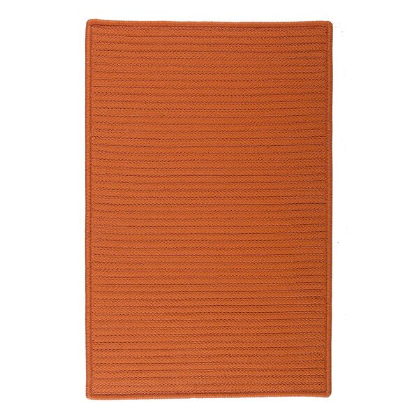 Glasgow Orange Indoor/Outdoor Area Rug by Charlton Home