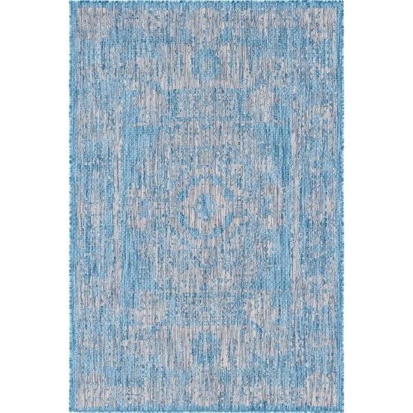 Loughlin Blue/Gray Indoor/Outdoor Area Rug by Charlton Home