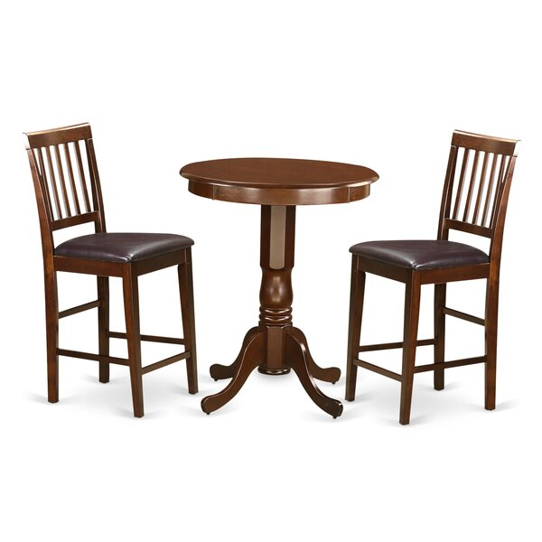 Eden 3 Piece Counter Height Pub Table Set By Wooden Importers Fresh