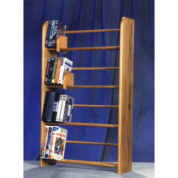 400 Series 160 DVD Dowel Multimedia Storage Rack by Wood Shed