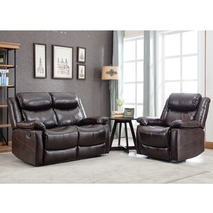 Giuliette 2 Piece Faux Leather Reclining Living Room Set by Red Barrel Studio®