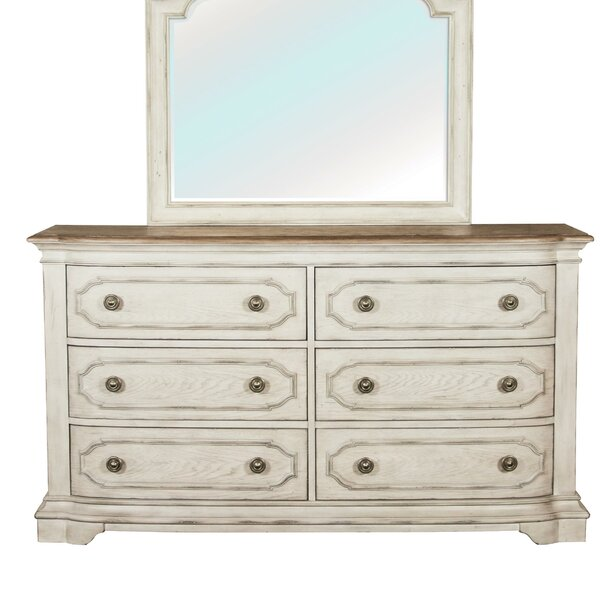 Best Design Leah 6 Drawer Double Dresser By One Allium Way 2019 Sale