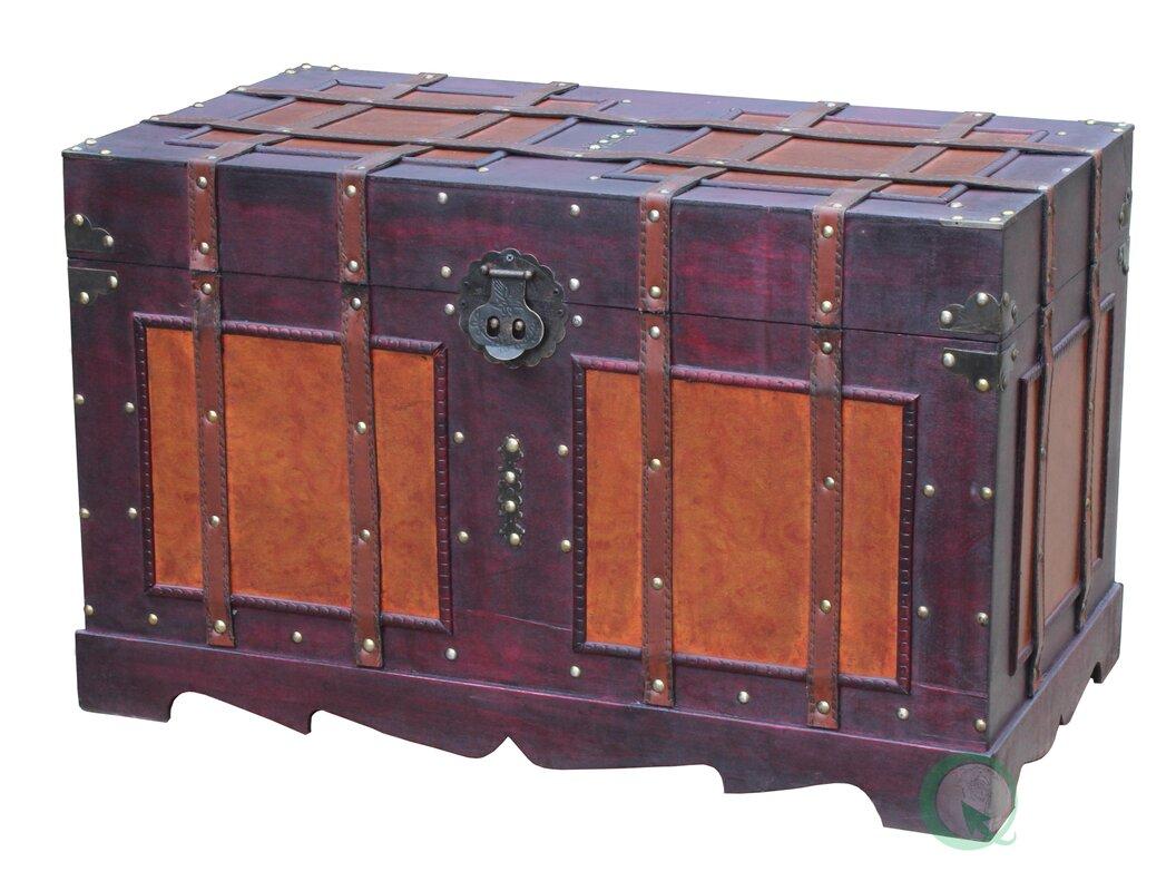 Coastal Living Dining Room Furniture World Menagerie Zemrane Antique Style Steamer Trunk