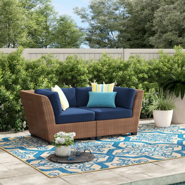 Waterbury Loveseat with Cushions by Sol 72 Outdoor