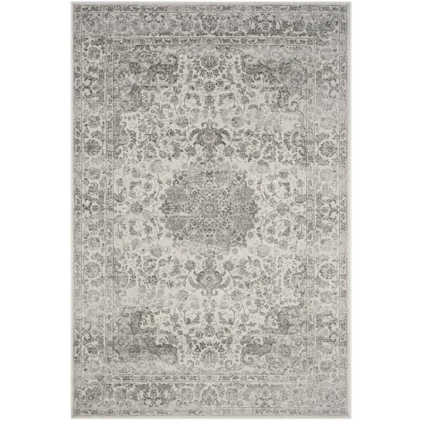 Akron Creek Cream/Dark Gray Area Rug by Lark Manor