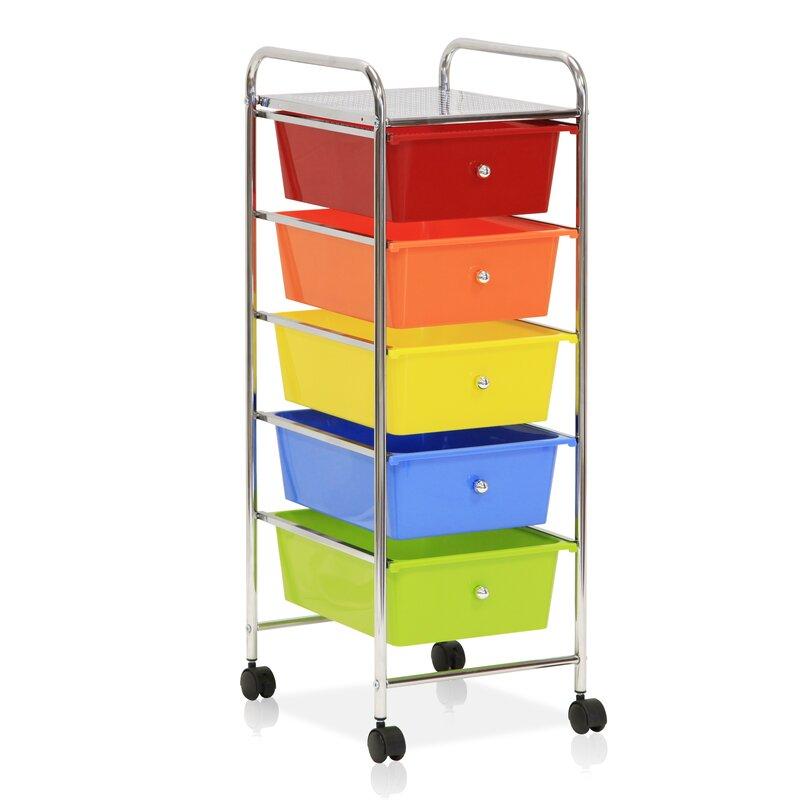 5 Drawer Trolley Storage Chest