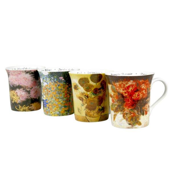 Assorted Les Fleurs Chez 12 oz. Mug (Set of 4) by Konitz
