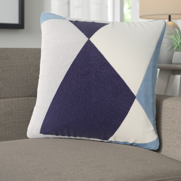 Benefield Embroidered Abstract Decorative Throw Pillow by Langley Street