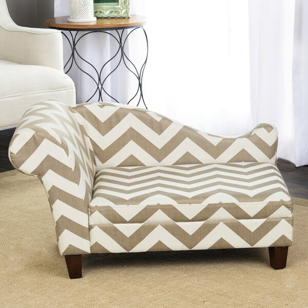 Anya Sophisticated Decorative Dog Chaise Lounger by Archie & Oscar