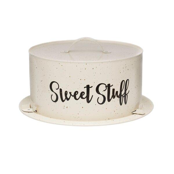 Batton Metal Cake Carrier Specialty Food Storage by Gracie Oaks