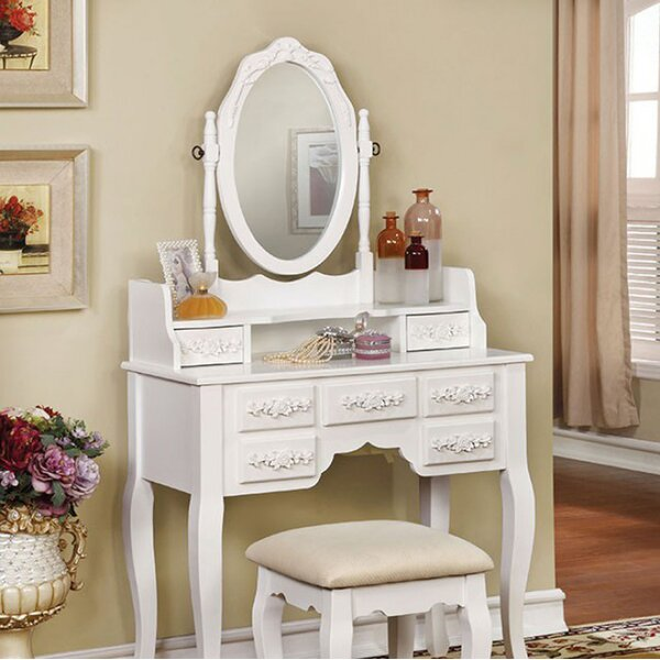 Fabrizio Traditional Vanity Set by House of Hampton