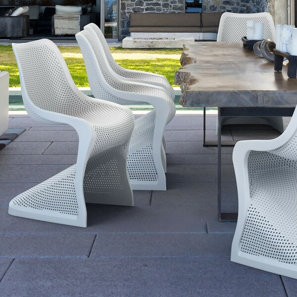Jonas Stacking Patio Dining Chair (Set Of 2) By Wade Logan
