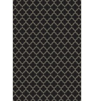 Farrar Quatrefoil Design Black/White Indoor/Outdoor Area Rug by Winston Porter