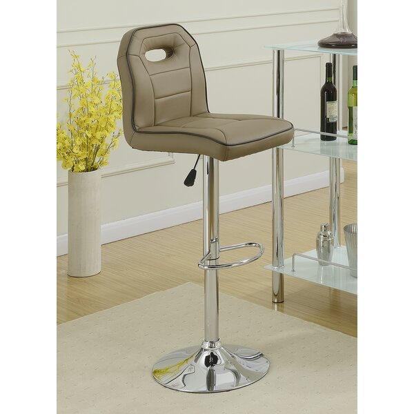 Singley Adjustable Height Swivel Bar Stool (Set of 2) by Latitude Run