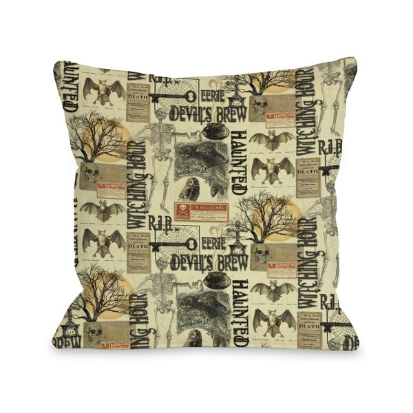 All Hallows Eve Collage Throw Pillow by One Bella Casa