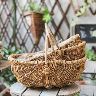 Rustic Handmade Natural Willow Basket by Ophelia & Co.