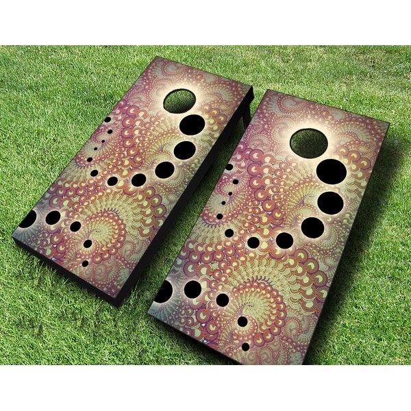 Fractal Shift Cornhole Set by AJJ Cornhole