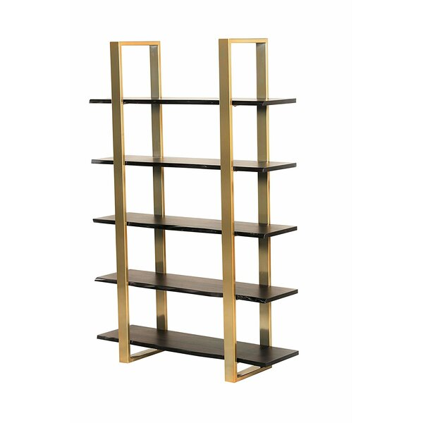 Bertram Modern 5 Tier Etagere Bookcase by Everly Quinn