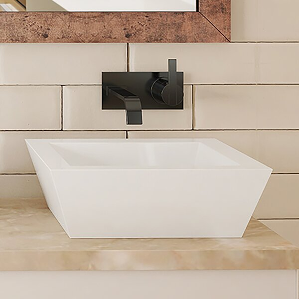 Kloey Classically Redefined Ceramic Rectangular Vessel Bathroom Sink with Overflow by DECOLAV