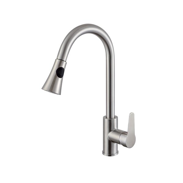 Pull Down Single Handle Kitchen Faucet by Ztrends LLC