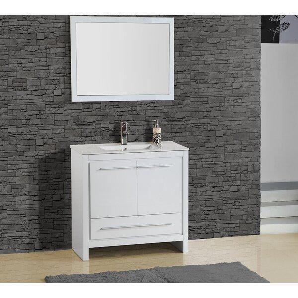 Alexa 30 Single Vanity with Mirror by Adornus