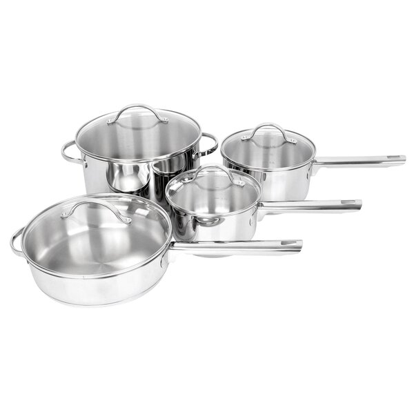 Cosette 8 Piece Round Stainless Steel Cookware Set by Symple Stuff