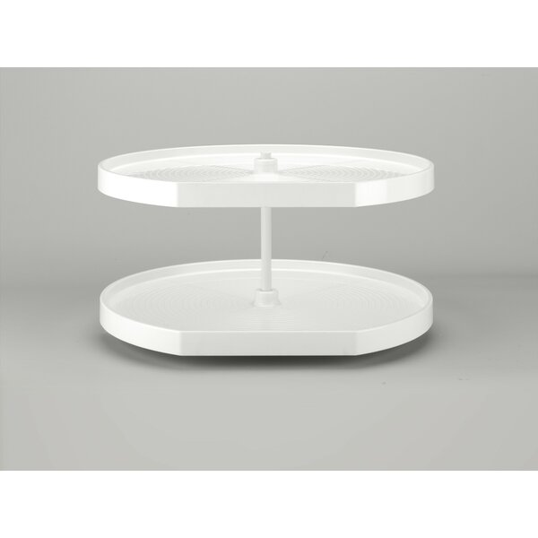 Polymer D Shape 2 Shelf Lazy Susan by Rev-A-Shelf