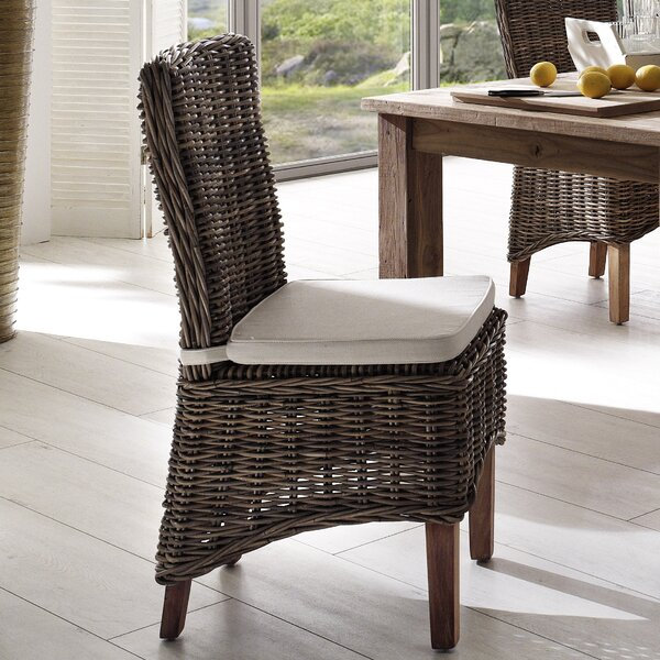 Leverett Patio Dining Chair with Cushion (Set of 2) by Rosecliff Heights