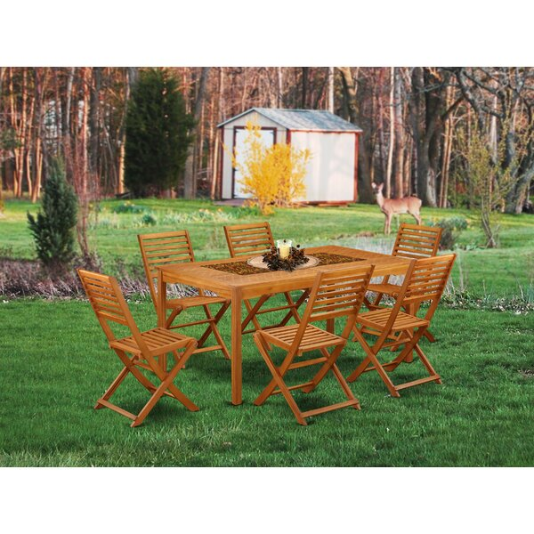 Dwight 7 Piece Patio Dining Set by Longshore Tides