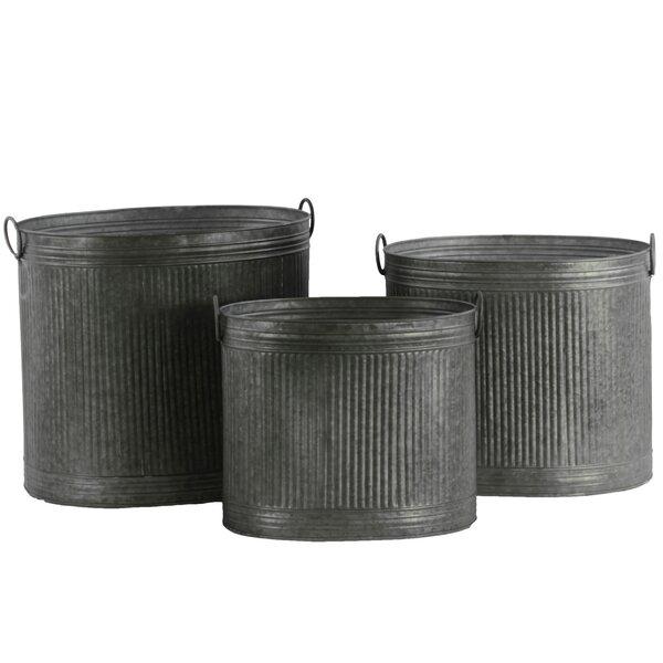 3-Piece Metal Pot Planter Set by Urban Trends