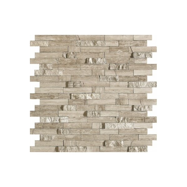 French 12 x 12 Marble Mosaic Tile in Stone by Kellani