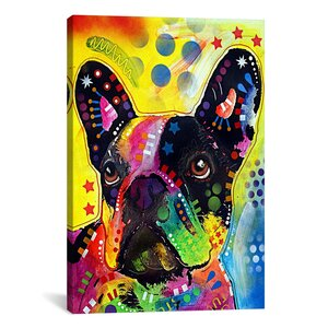 French BulldogPainting Print on Canvas by East Urban Home