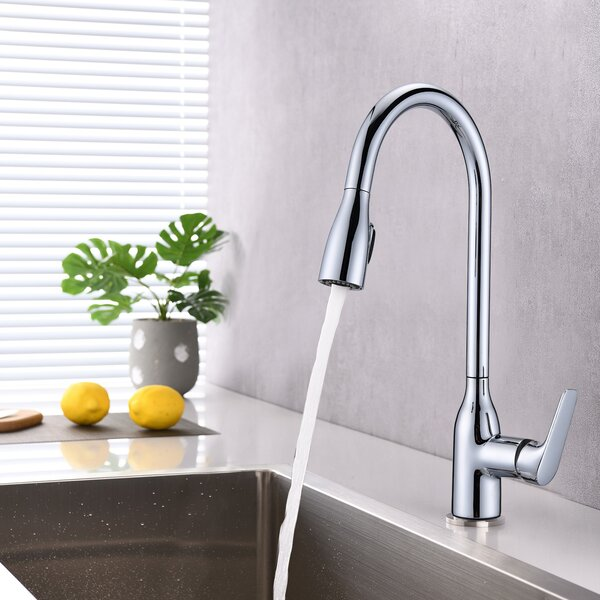 Pull Down Touch Single Handle Kitchen Faucet