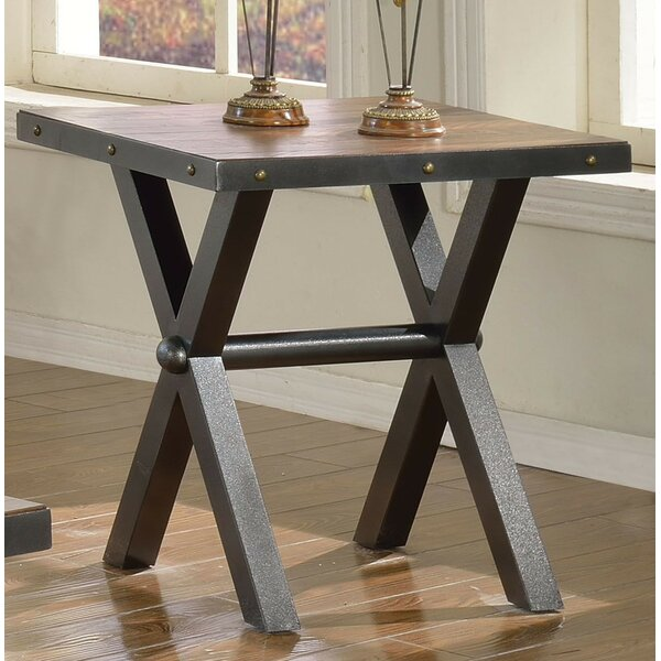 Sunday End Table by 17 Stories