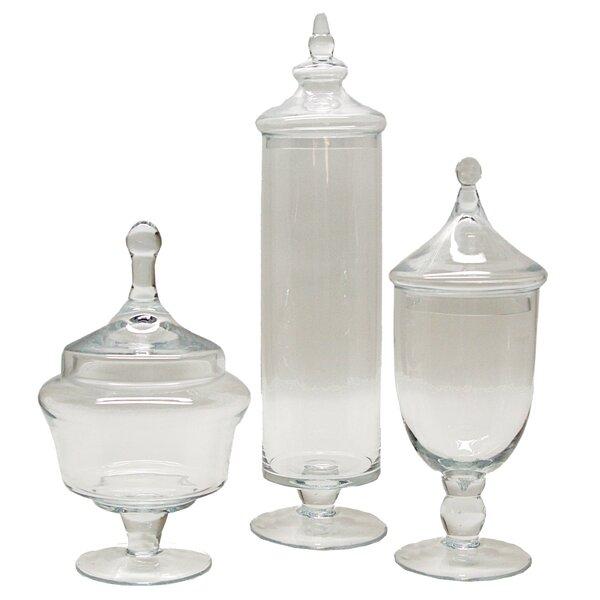 Kemper 3 Piece Apothecary Jar Set by Selectives
