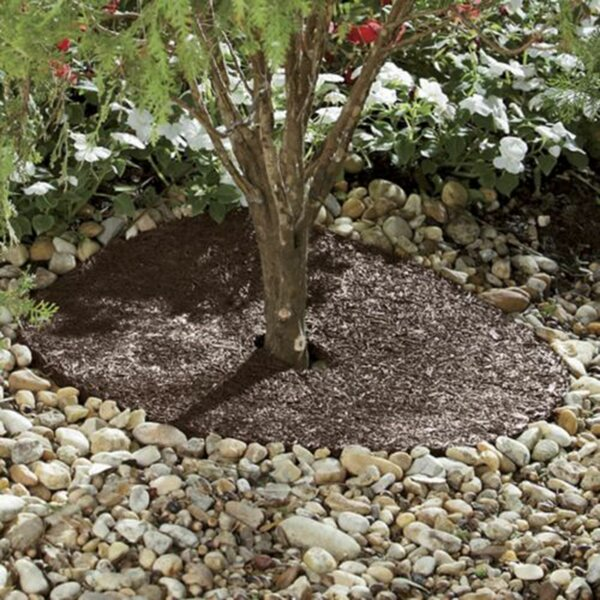 Recycled Rubber Mulch Ring by Backyard Expressions